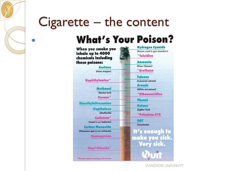 Cigarette – the content WINDSOR UNIVERITY