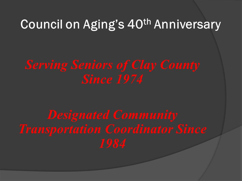 Clay County Demographics The population of individuals ages 60 and over has been increasing over the past 10 years.