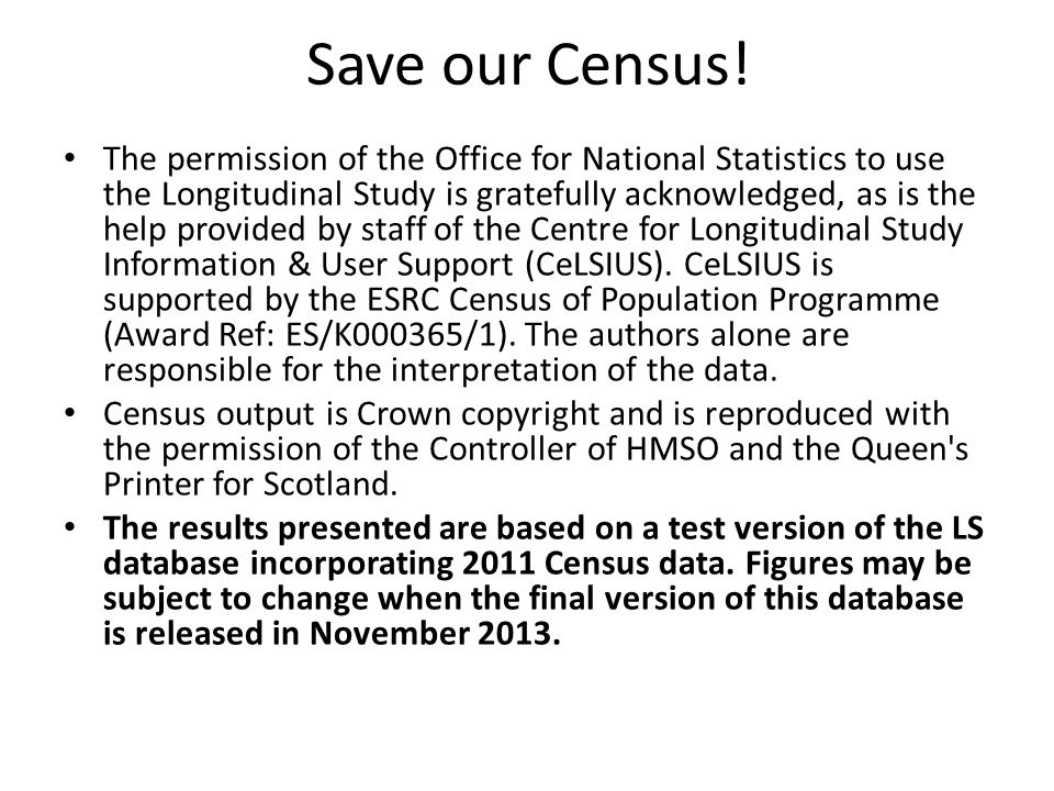 Save our Census.