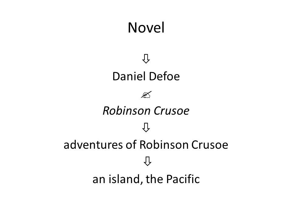 Novel  Daniel Defoe  Robinson Crusoe  adventures of Robinson Crusoe  an island, the Pacific