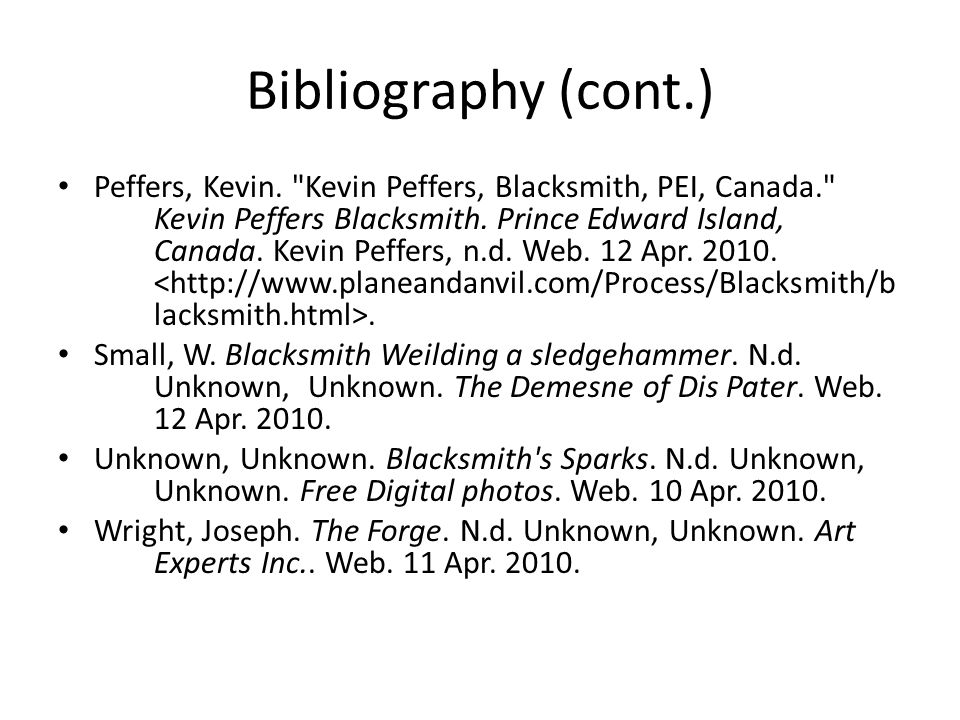 Bibliography (cont.) Peffers, Kevin.
