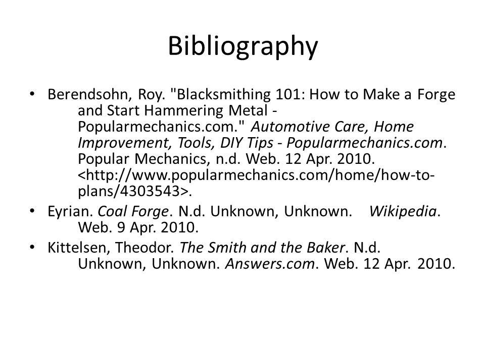 Bibliography Berendsohn, Roy.
