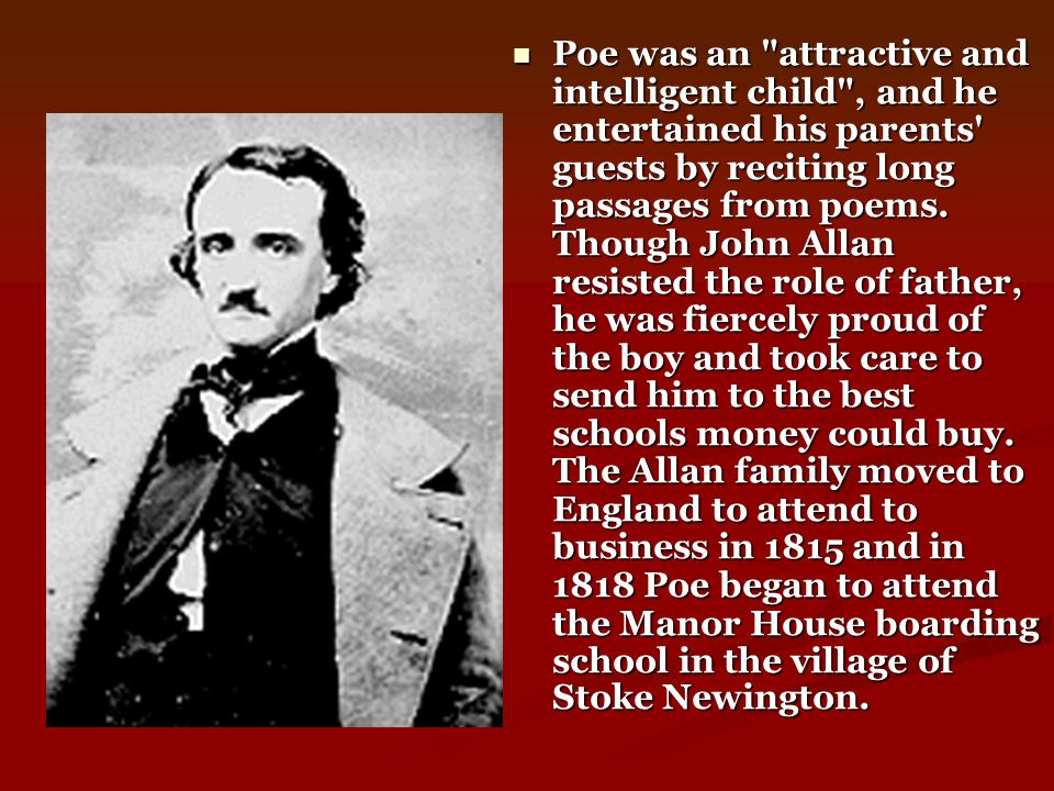 Poe s first collection, Tales of the Grotesque and Arabesque, appeared in 1840.
