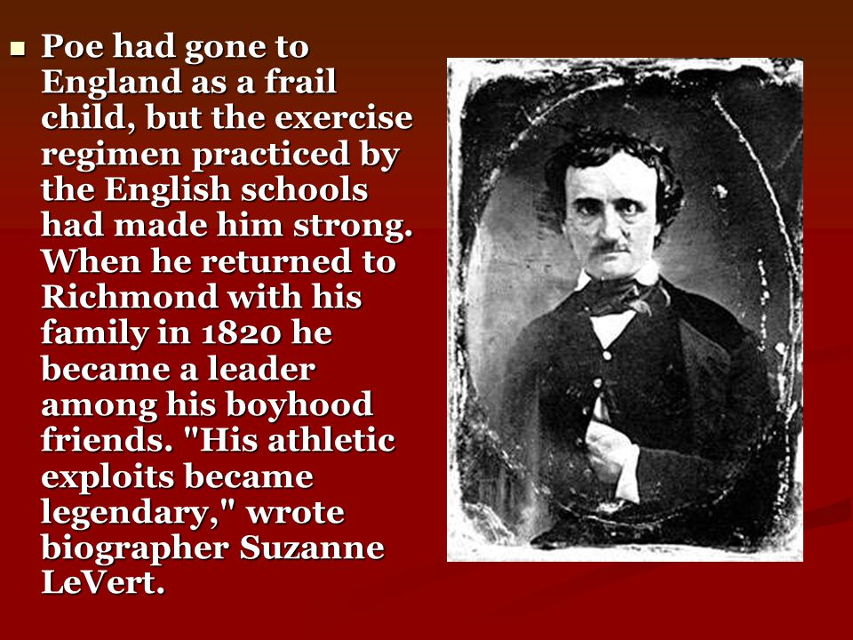 By 1841, Poe had begun writing a kind of story unlike any attempted in the history of fiction.