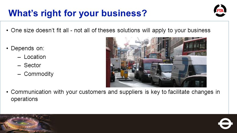What's right for your business.