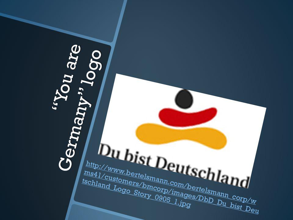 """You are Germany"" logo http://www.bertelsmann.com/bertelsmann_corp/w ms41/customers/bmcorp/images/DbD_Du_bist_Deu tschland_Logo_Story_0905_1.jpg"