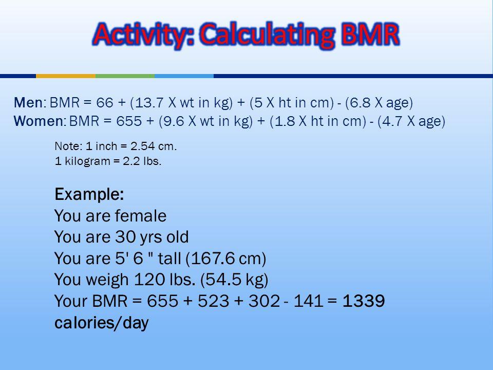Note: 1 inch = 2.54 cm. 1 kilogram = 2.2 lbs.