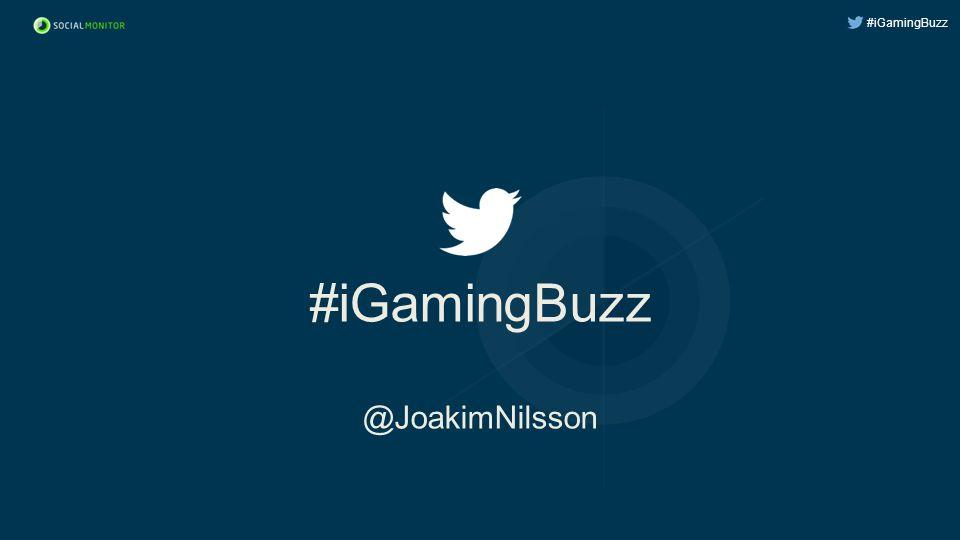 #iGamingBuzz #iGamingBuzz @JoakimNilsson