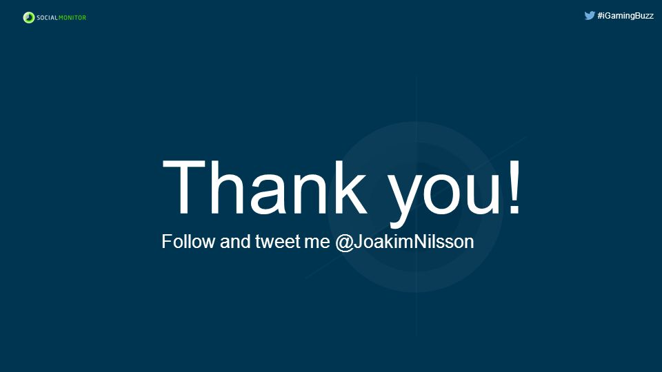 #iGamingBuzz Thank you! Follow and tweet me @JoakimNilsson