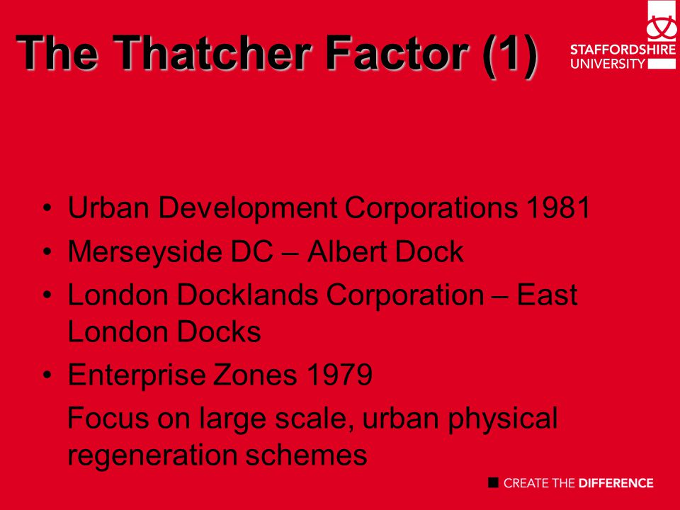 The Thatcher Factor (2) Youth Opportunities Programme (YOP) Youth Training Scheme (YTS) Technical & Vocational Education Initiatives (TVEI) 1983 National Vocational Qualifications (NVQ) 1986 Employment Department Training and Enterprise Councils (TECs) 1990 Focus a vocational education, skills work related learning