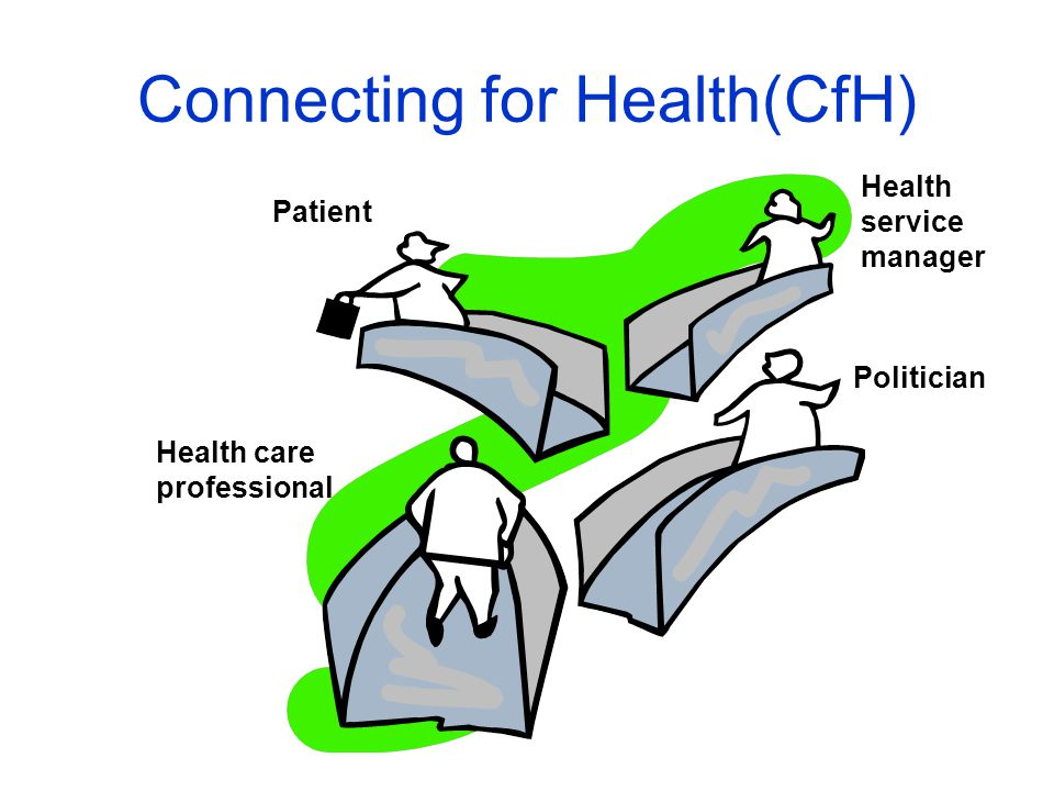 Politician Health service manager Health care professional Patient