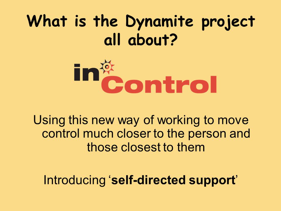 What is the Dynamite project all about.