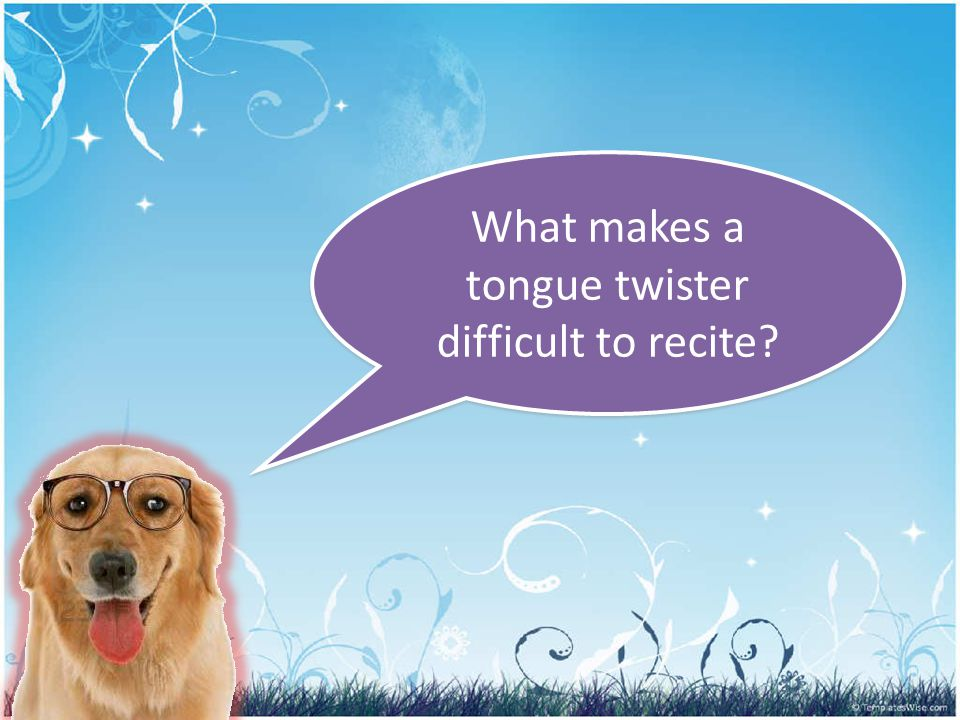 What makes a tongue twister difficult to recite?