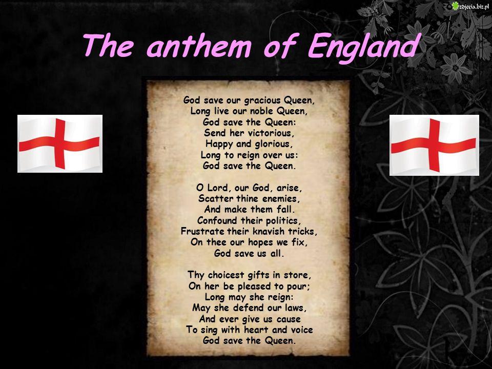 The anthem of England