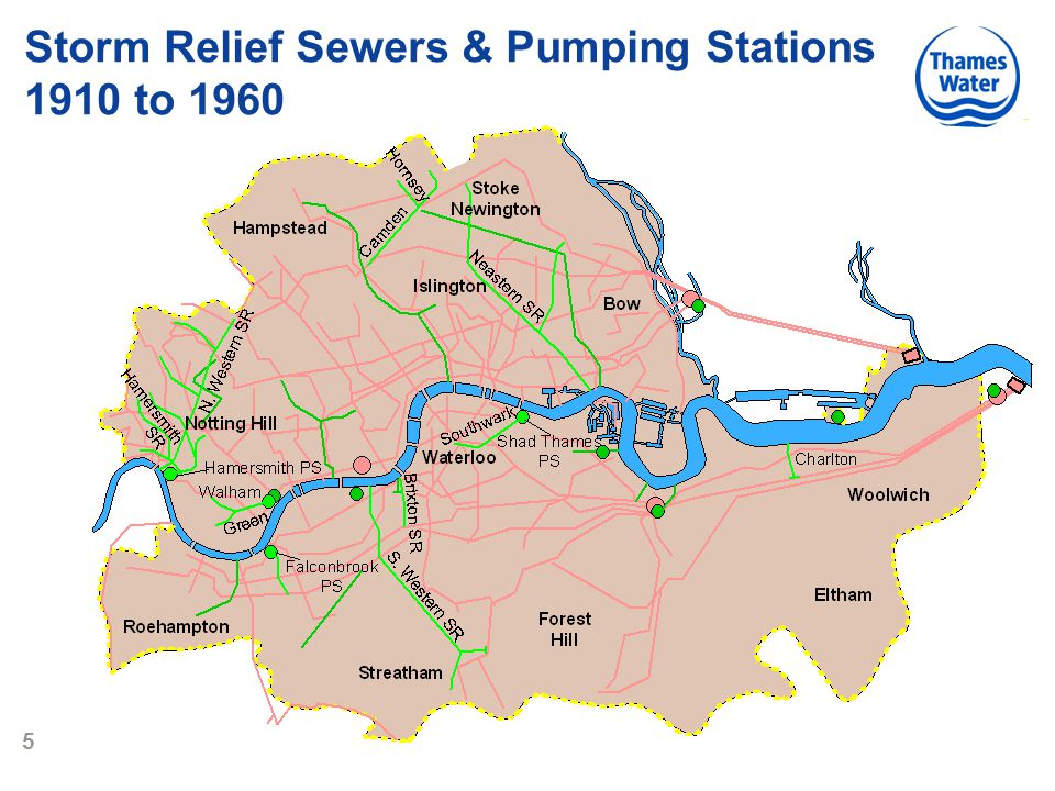 5 Storm Relief Sewers & Pumping Stations 1910 to 1960