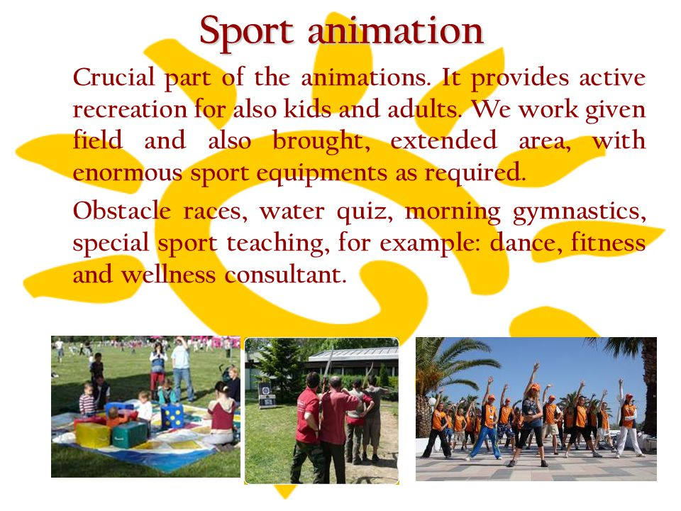 Sport animation Crucial part of the animations. It provides active recreation for also kids and adults. We work given field and also brought, extended