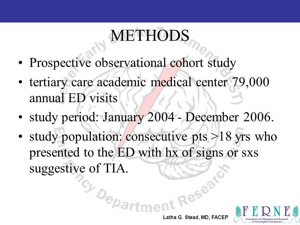 Latha G.Stead, MD, FACEP The Protocol 1.Determine time of onset of symptoms.
