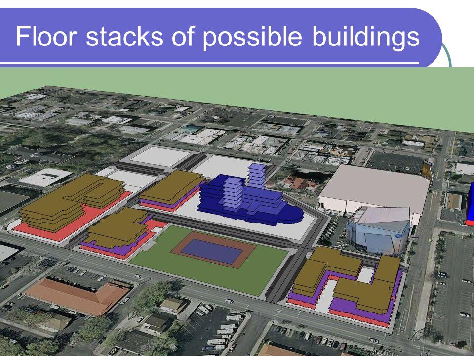 Floor stacks of possible buildings