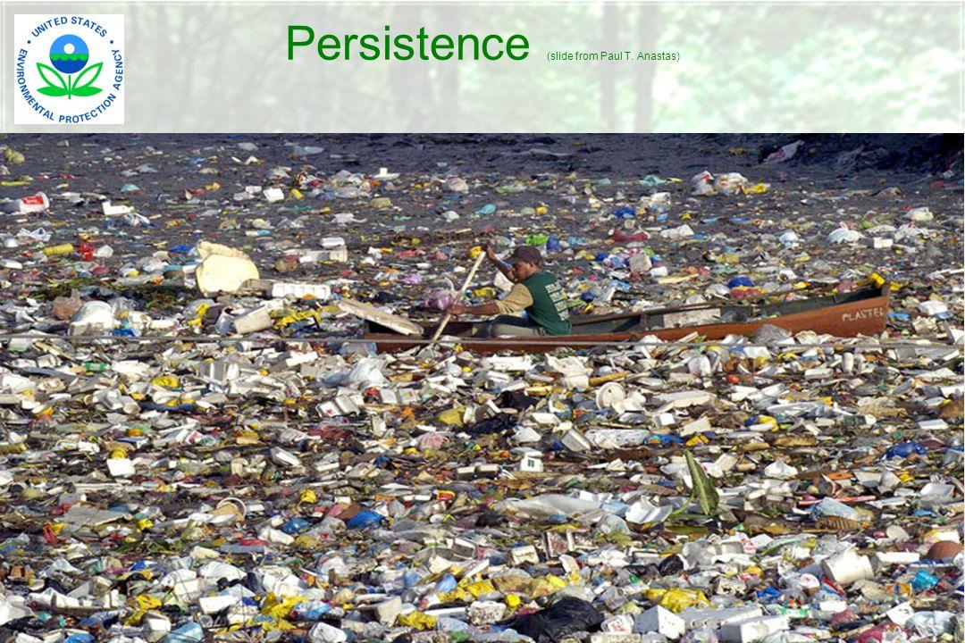 Persistence (slide from Paul T. Anastas)