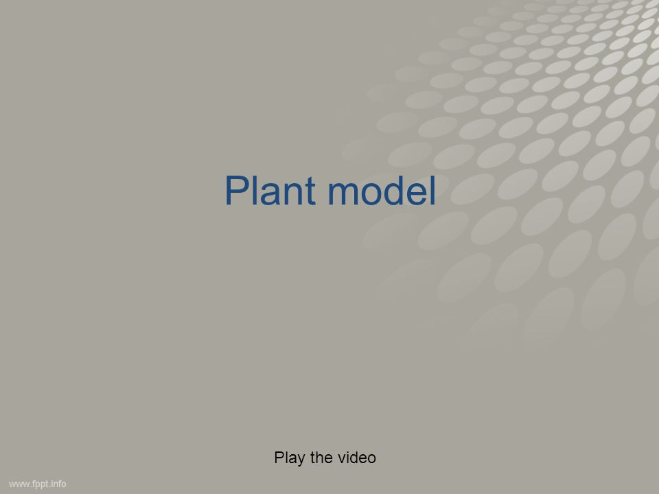 Plant model Play the video