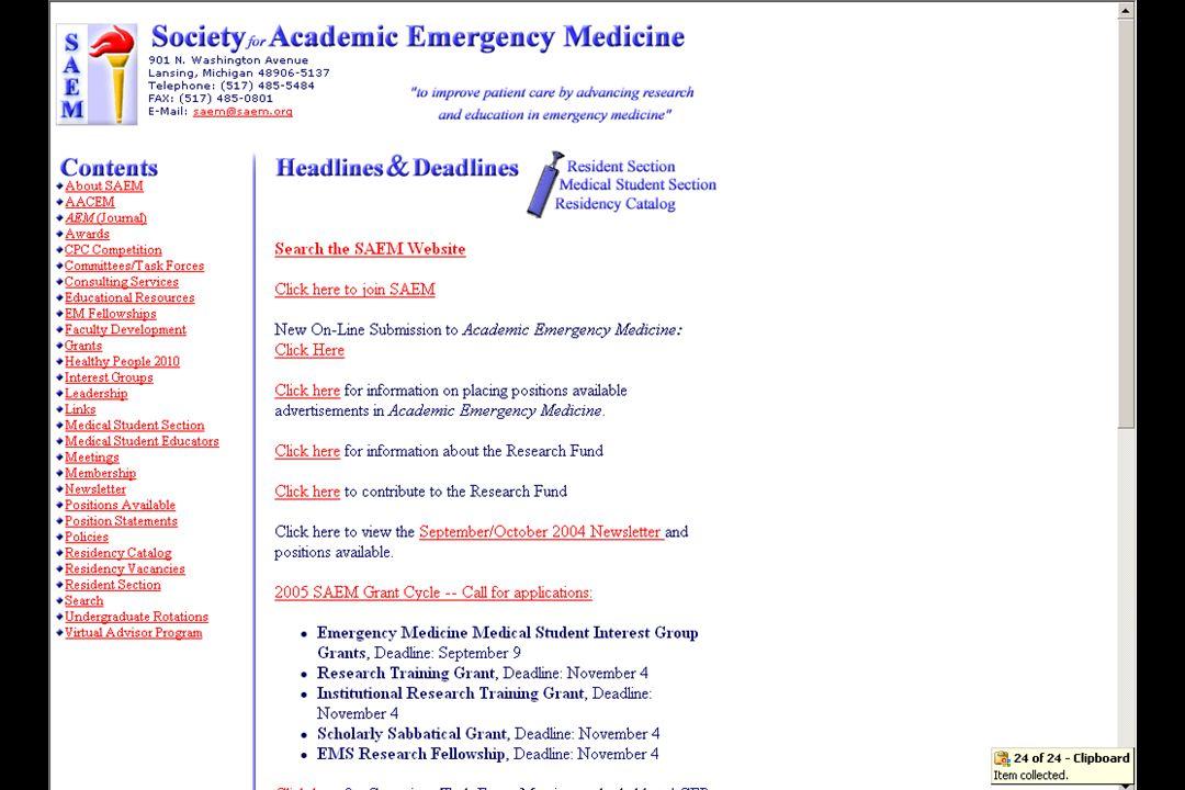 SAEM website