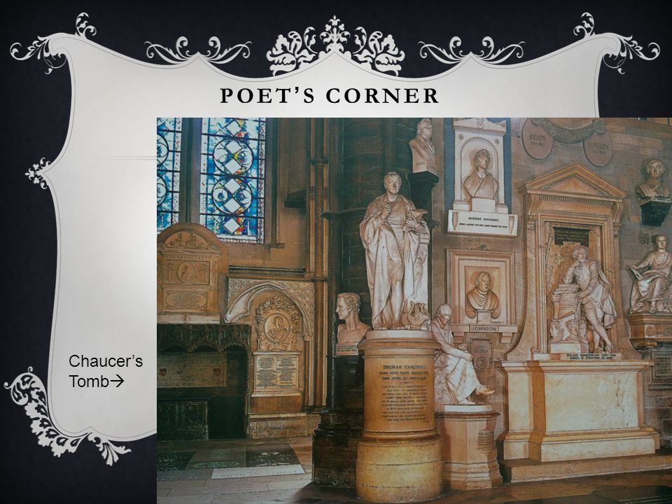 POET'S CORNER Chaucer's Tomb 