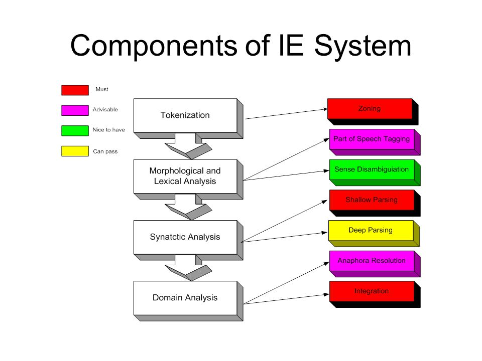 Components of IE System