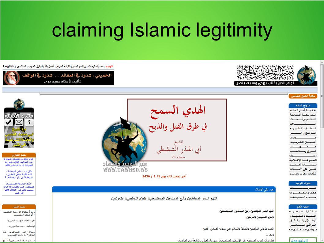 claiming Islamic legitimity proclaiming caliphate