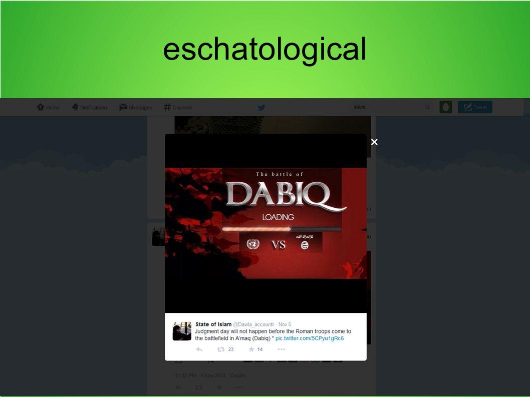 eschatological
