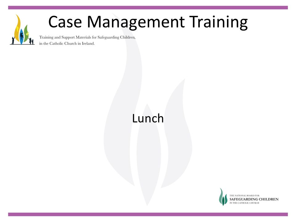 Case Management Training Lunch