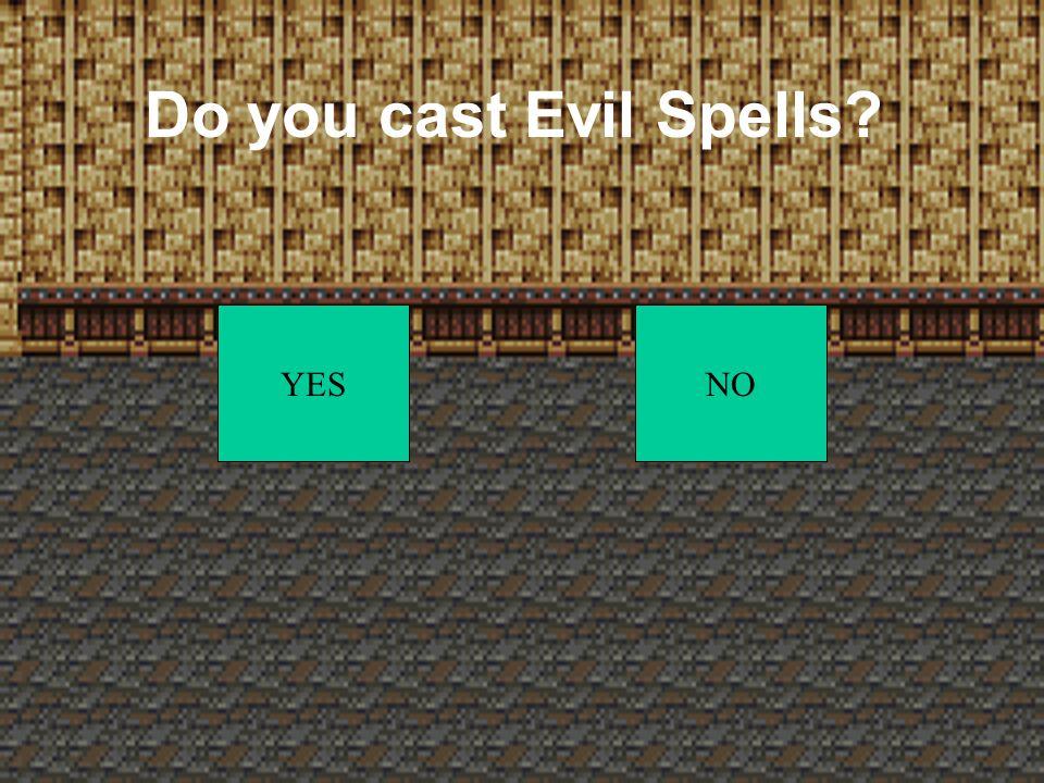 Do you cast spells YESNO