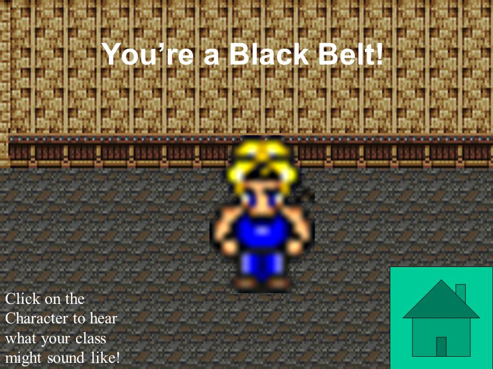 You're a Black Mage! Click on the Character to hear what your class might sound like!