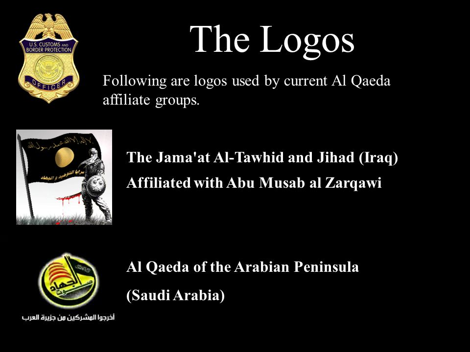 The Logos Following are logos used by current Al Qaeda affiliate groups.