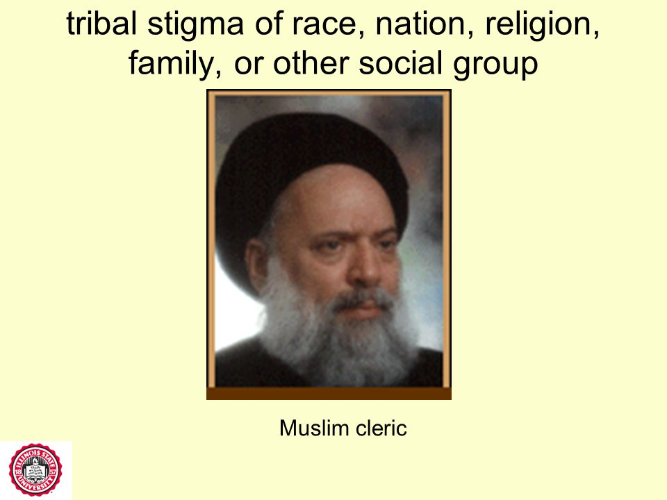tribal stigma of race, nation, religion, family, or other social group Japanese Korean