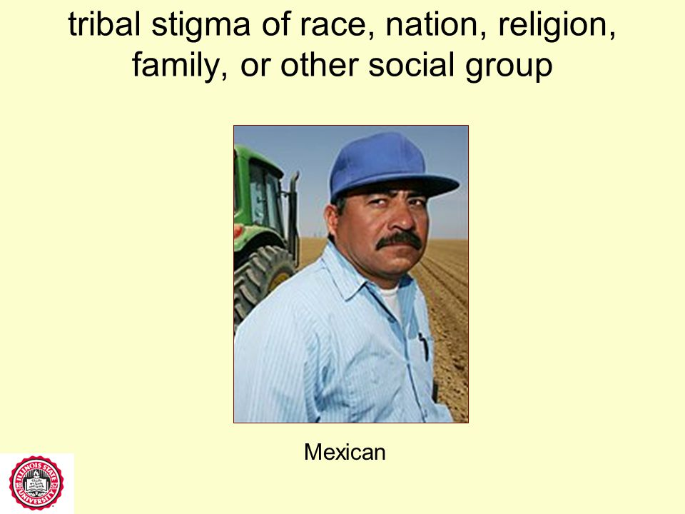 tribal stigma of race, nation, religion, family, or other social group Muslim cleric