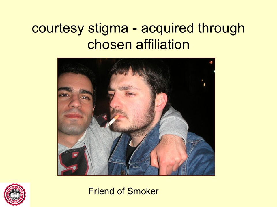 courtesy stigma - acquired through social structure associations Spouse of Obese Person