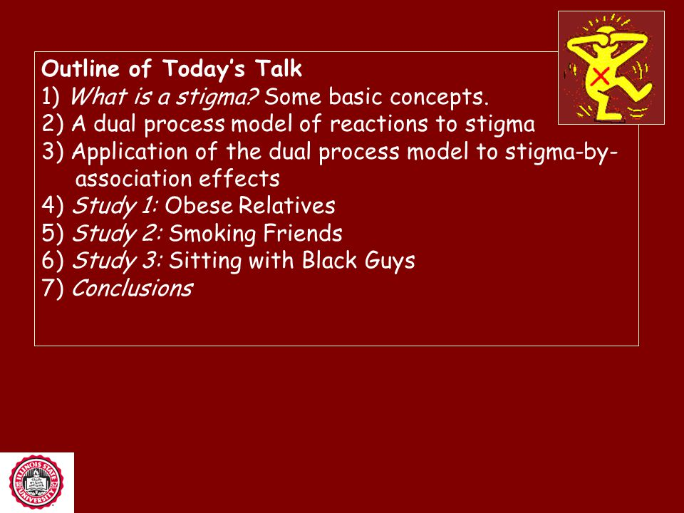 Outline of Today's Talk 1) What is a stigma.Some basic concepts.