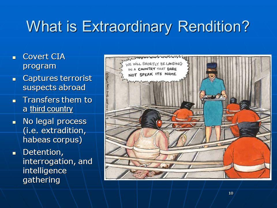 10 What is Extraordinary Rendition.