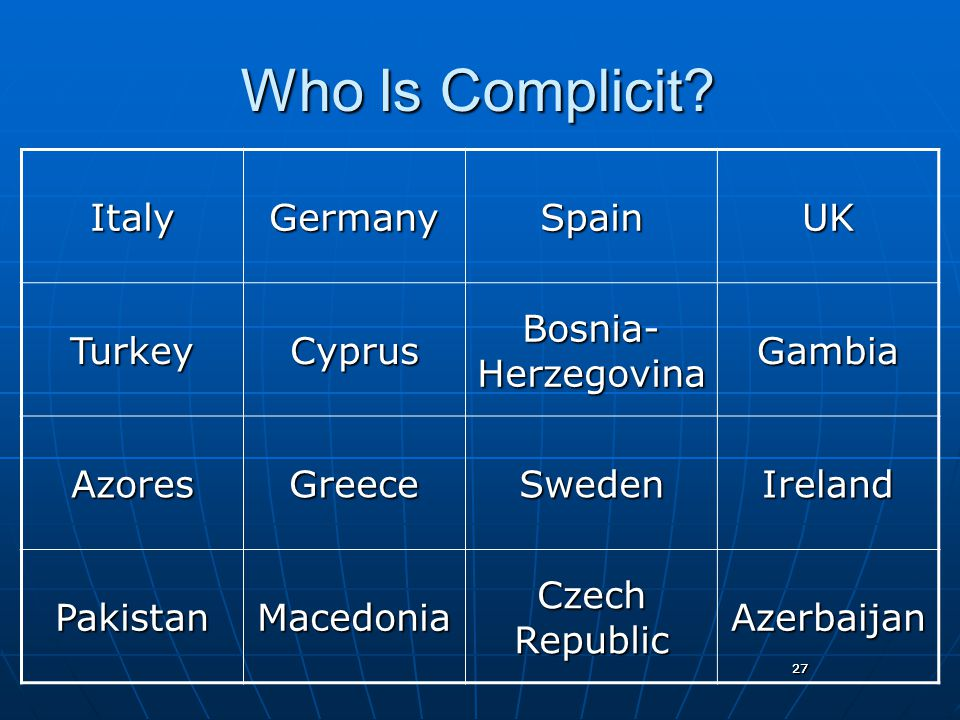 27 Who Is Complicit.