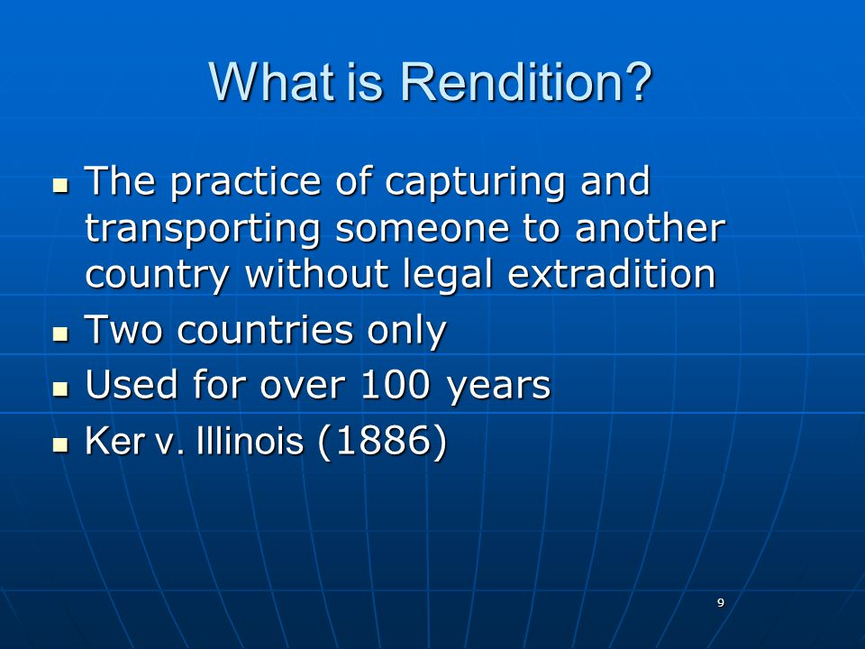 9 What is Rendition.