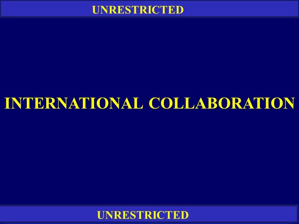 RESTRICTED UNRESTRICTED INTERNATIONAL COLLABORATION