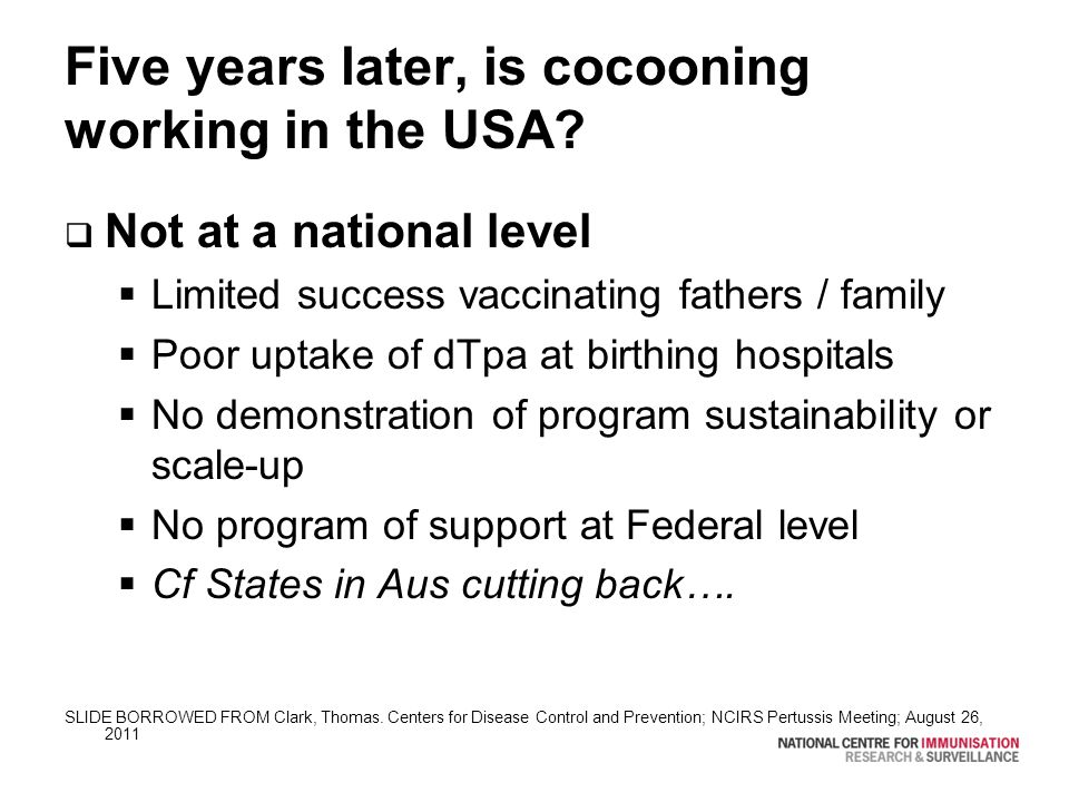 Five years later, is cocooning working in the USA.