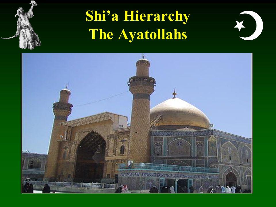  Shi'a Hierarchy The Ayatollahs