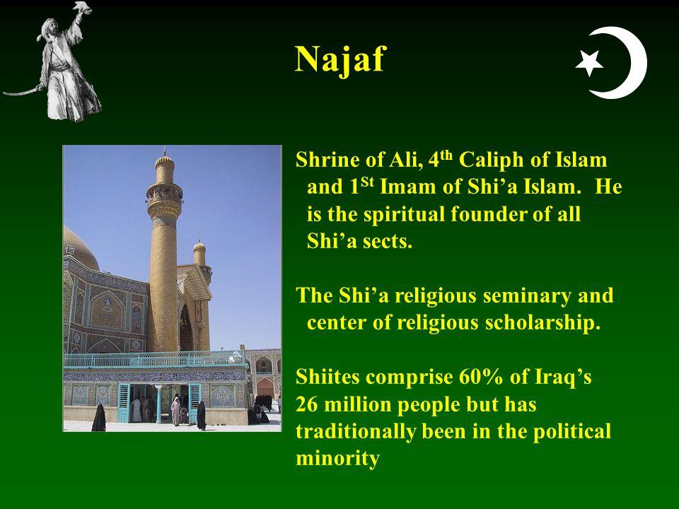  Najaf Shrine of Ali, 4 th Caliph of Islam and 1 St Imam of Shi'a Islam.