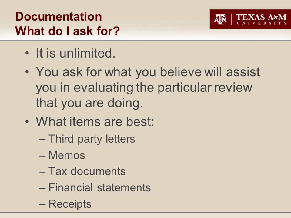 Documentation What do I ask for. It is unlimited.