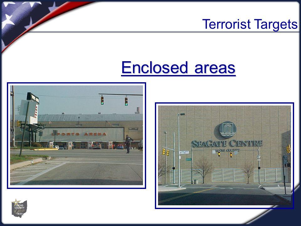 Terrorist Targets Enclosed areas