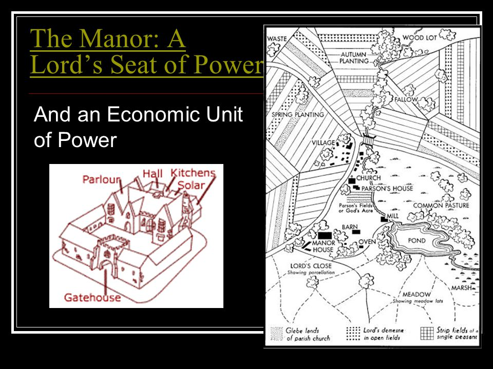 The Manor: A Lord's Seat of Power And an Economic Unit of Power