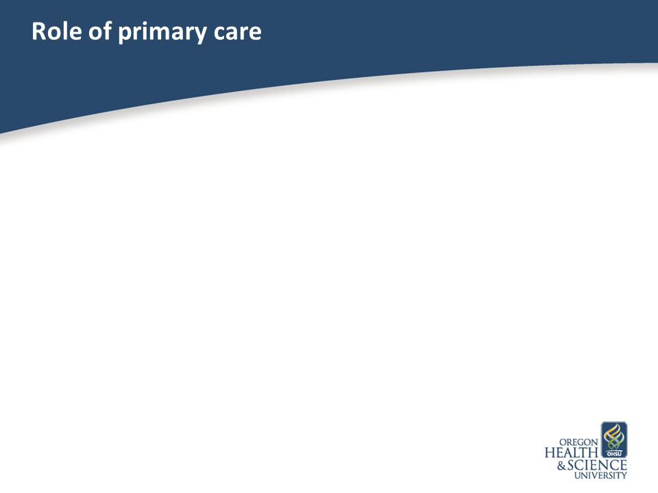 Role of primary care