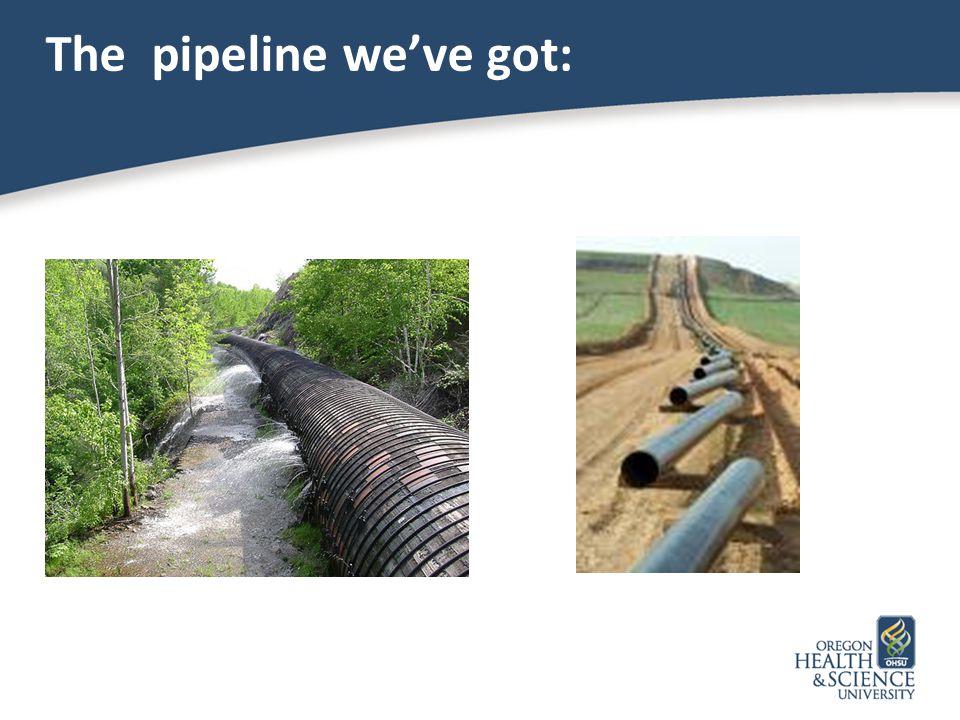 The pipeline we've got: