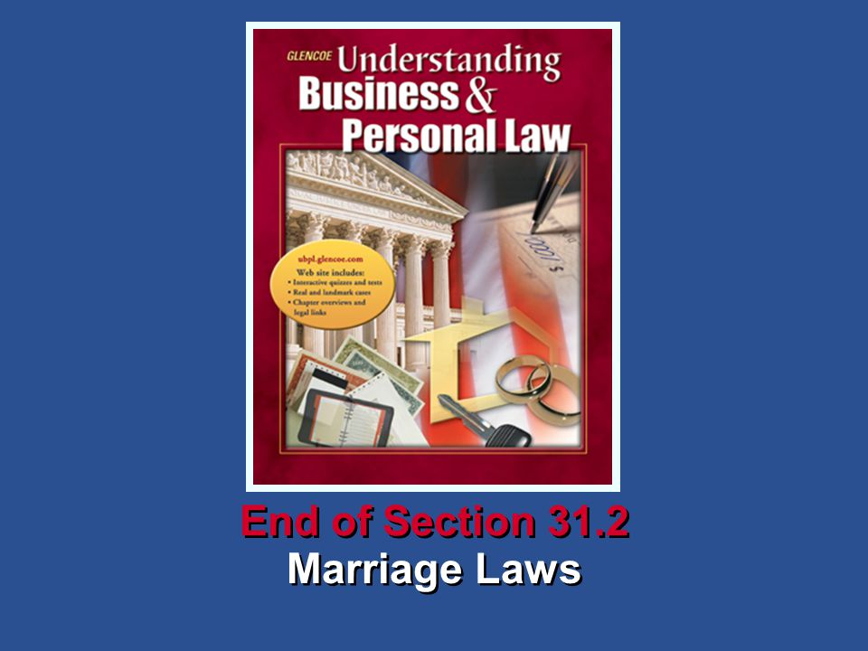 Marriage Laws End of Section 31.2